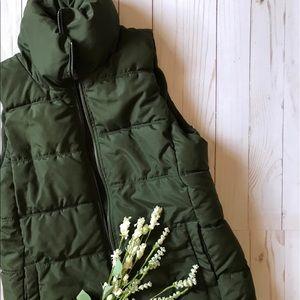 Dark Green Puffer Vest